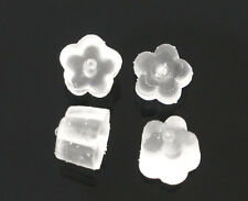 JP 1000 4x4mm Flower Rubber  Earring Back Stoppers Findings