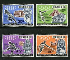 Olympics Mexico 1968 MNH Set of 4 Stamps Rwanda #250-3