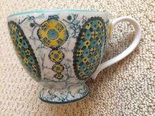 NEW Anthropologie KEBAYA footed mug coffee tea pedestal cup - floral