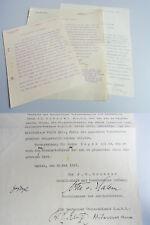 Otto von HALEM (1867-1940) Briefe Arbeitsvertrag 1913-28 Deutscher ÜBERSEEDIENST