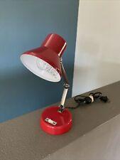 Vintage Red Mid Century Mod Adjust Modern Retro Desk Lamp