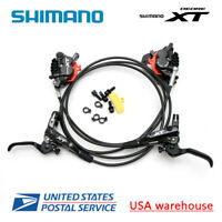 SHIMANO XT BL-M8000 BR-M8020 4 Pistons Hydraulic Disc Ice Tech Brake Set F&R OE
