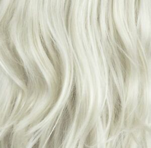 """22"""" Clip in Hair Extensions CURLY Platinum Blonde #16/60 FULL HEAD 8pcs"""