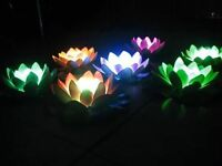 LED Floating Water Lily Pad Lights Swimming Pool Light White Light USA SELLER