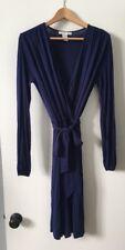 Design History Viscose Faux Wrap Surplice Dress Long Sleeve Medium