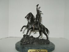 "BRONZE ""SCALP"" INDIAN  by FREDERIC REMINGTON WITH A Marble Base"