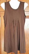 Brown People Tree organic cotton size 8 sleeveless top with pintucks & pleats