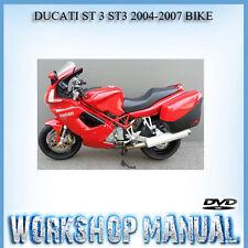 DUCATI ST 3 ST3 2004-2007 BIKE WORKSHOP REPAIR SERVICE MANUAL IN DISC