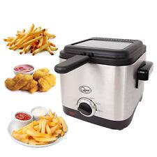 Quest Deep Fat Fryer 1.5 Litre Chip Pan Basket Non Stick Oil Fry 900W Compact