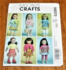 "Mc Calls Pattern #6370 - 18"" Doll Clothing - 6 Casual Styles Skirts, Tops, Dress"