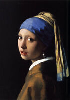 Huge Oil painting Johannes Vermeer - The Girl With The Pearl Earring famous art