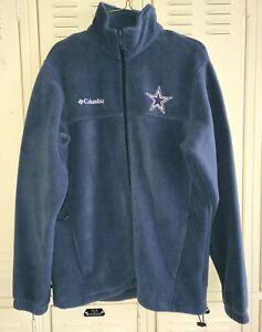 Dallas Cowboys Columbia Full Zip Fleece Adult Small S Excellent Condition