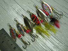 D119. 6 Willow Leaf Spinners 4g-10g # 3 - # 4 Lures Esche Bass salmone luccio trota di mare
