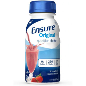 Ensure Original Therapeutic Shake, Strawberry, 8 oz Bottle