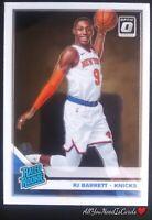 RJ Barrett Rookie Card 2019-20 Donruss Optic Basketball RC #178 New York Knicks