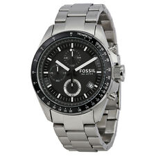 Fossil Decker Chronograph Stainless Steel Black Dial Mens Watch CH2600