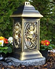Grablaterne mit Granitsockel Grablampe Grableuchte Granit Grablicht Kerze Engel