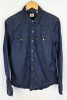Levi Strauss & Co Denim Men Casual Shirt Blue Cotton size S
