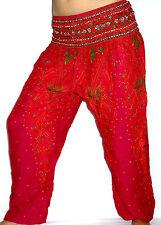 Sarouel Femme Pantalon Ethnique Aladin Harem Pant Aladdin yoga rose pink