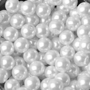 Pearl Glass Round Loose Beads 4mm/6mm/8mm/10mm/12mm/14mm/16mm for Jewelry Making