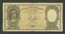 More details for greece  1000 drachmai  1941  italian occupation  krause m6  banknotes