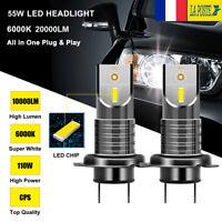 110W 20000LM voiture LED Lampe phare H7 ampoule Lumière KIT xénon blanc 6000K
