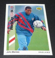 JOHN BARNES LIVERPOOL ENGLAND FOOTBALL CARD UPPER DECK USA 94 PANINI 1994 WM94