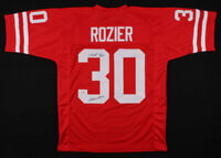 "Mike Rozier Signed Nebraska Cornhuskers Football Jersey Inscribed ""Heisman 1983"""