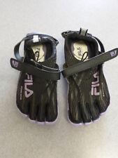 "NEW Fila ""Skeletoes"" black, lightweight barefoot running shoes. Women's 6"
