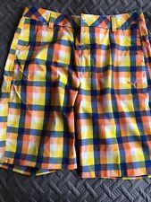 PUMA Mens Size 32 Orange/Blue/Yellow/white Shorts