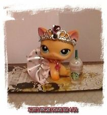 Littlest Pet Shop LPS clothes accessories Custom PINK/SILVER SKIRT W/CROWN
