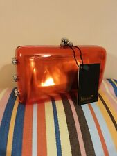 Bisous Red See-through Evening Clutch Bag And Purse New Wedding Cocktail Party