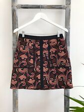 Cue A-Line Multi-Coloured Skirt with Pockets - Size 8