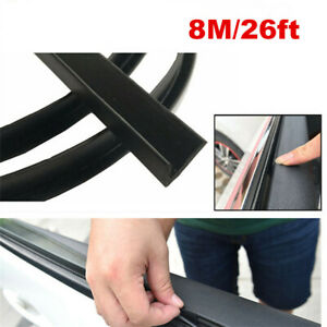 8M V Shape Car Door Window Trim Edge Moulding Rubber Weatherstrip Seal Strip