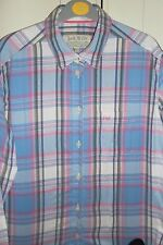 Genuine Jack Wills Check Blue Pink White Shirt Blouse Casual Long Sleeve UK 12