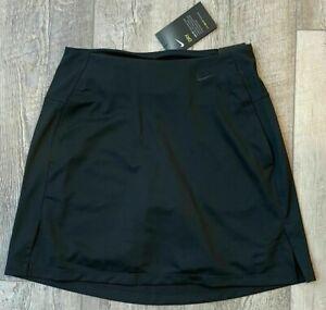 "Womens Nike Dri-Fit Victory 17"" Golf Skirt Skort Black BV0253-010 NWT $70"