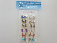 Lot of 12 Stainless Steel Earrings for Women. Wholesale price. - 24DOZ