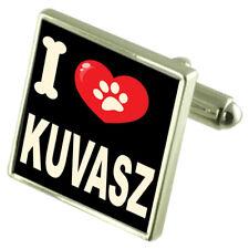 Silver 925 Cufflinks & Bond Money Clip - I Love Kuvasz