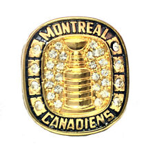 NHL STANLEY CUP REPLICA CHAMPIONSHIP RING 1945/46 CANADIENS LACH WITH RING BOX