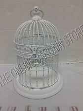 Pottery Barn Teen Birdcage Flameless Candle Holder Wedding Decor Antique white