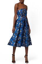 NEW TOPSHOP 'Shadow Jacquard' Strapless Midi  DRESS Size UK 10 US 6 EURO 38 $138