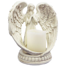 Praying Angel Figurine Wings Angel Flamless Candle Holder Angel Sculpture Statue