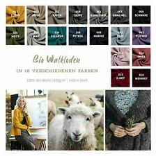 Bio Walkloden Meterware - Wollwalk - Mantelstoff - Schurwolle - Bio Wolle 50 cm