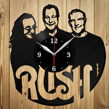 Vinyl Clock Rush Original Vinyl Record Clock Art Home Decor Handmade Gift