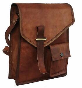 Bag Leather Vintage Messenger Shoulder Men Satchel Laptop School Briefcase Bag