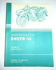 Operation manual for Dnepr (MT-16) in Spanish