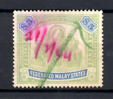 More details for federated malaya states 1904-22 $5 elephant sg80 fiscally used ws19920