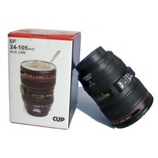 Camera Lens Thermos As Canon EF 24-105mm Coffee Mug Cup Stainless Steel -New