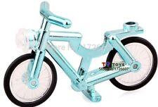 Custom Chrome Bleu Plaqué vélo pour lego minifigures NEUF