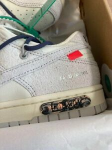 NIKE x Off-White Dunk Low Lot20 Shoes New US8.5 Authentic From JAPAN *10231